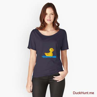 Plastic Duck Navy Relaxed Fit T-Shirt (Front printed) image