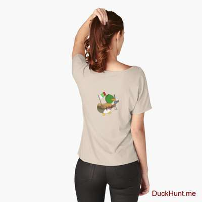 Kamikaze Duck Creme Relaxed Fit T-Shirt (Back printed) image