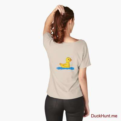 Plastic Duck Creme Relaxed Fit T-Shirt (Back printed) image