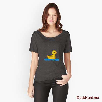 Plastic Duck Charcoal Heather Relaxed Fit T-Shirt (Front printed) image