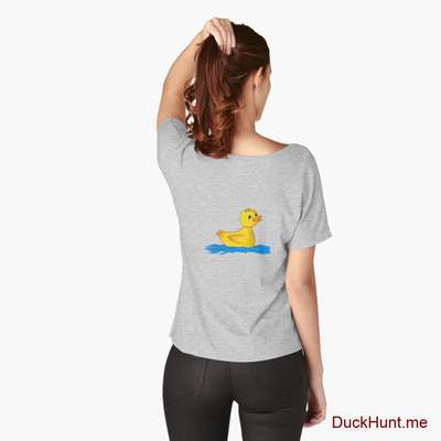 Plastic Duck Heather Grey Relaxed Fit T-Shirt (Back printed) image
