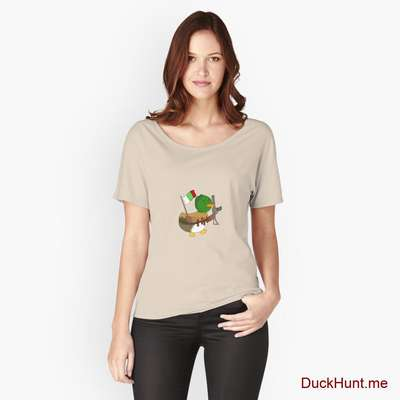 Kamikaze Duck Creme Relaxed Fit T-Shirt (Front printed) image