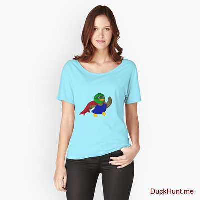 Alive Boss Duck Turquoise Relaxed Fit T-Shirt (Front printed) image