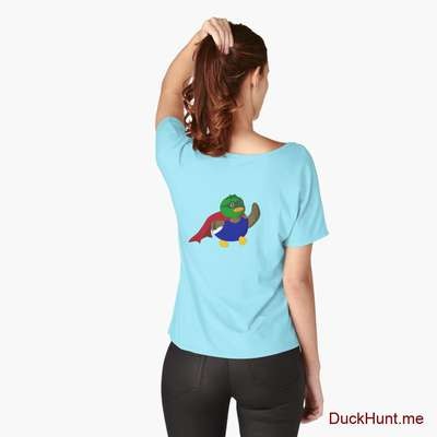 Alive Boss Duck Turquoise Relaxed Fit T-Shirt (Back printed) image