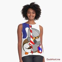 Armored Duck White Sleeveless Top
