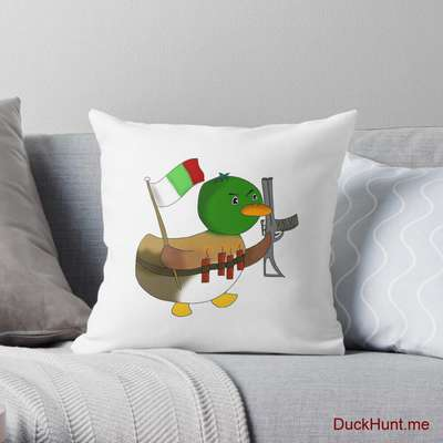 Kamikaze Duck Throw Pillow image