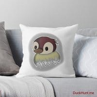 Ghost Duck (foggy) Throw Pillow