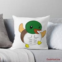 Super duck Throw Pillow