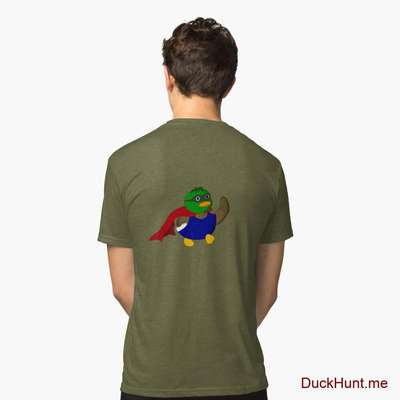 Alive Boss Duck Green Tri-blend T-Shirt (Back printed) image