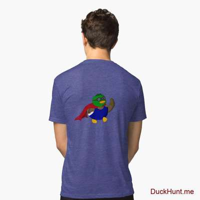 Alive Boss Duck Royal Tri-blend T-Shirt (Back printed) image