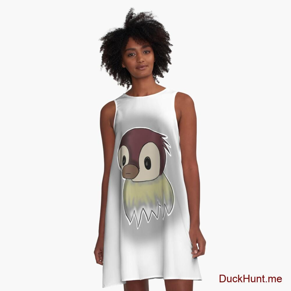 Ghost Duck (foggy) A-Line Dress