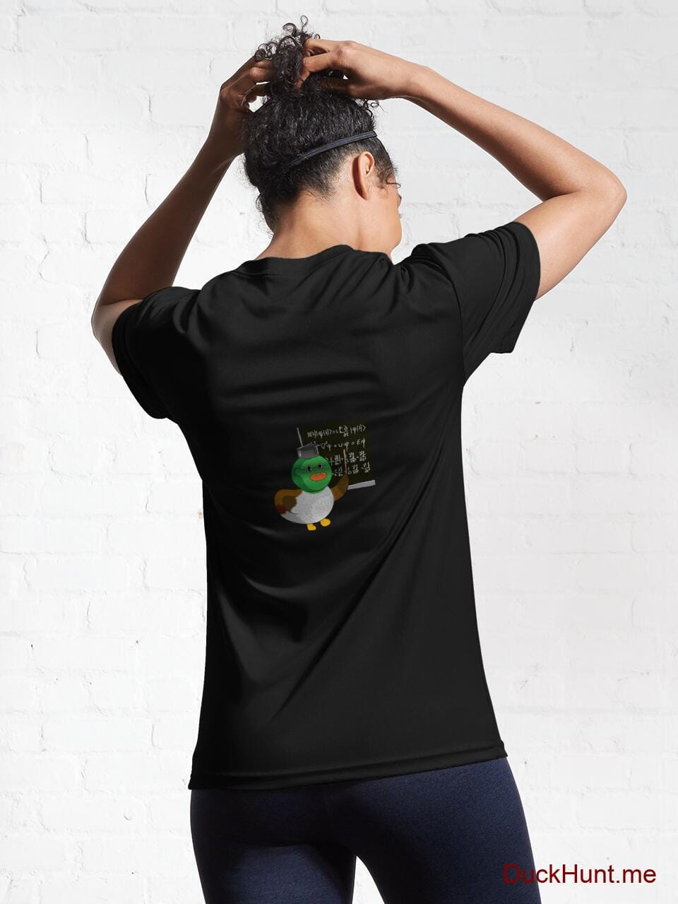 Prof Duck Black Active T-Shirt (Back printed) alternative image 5