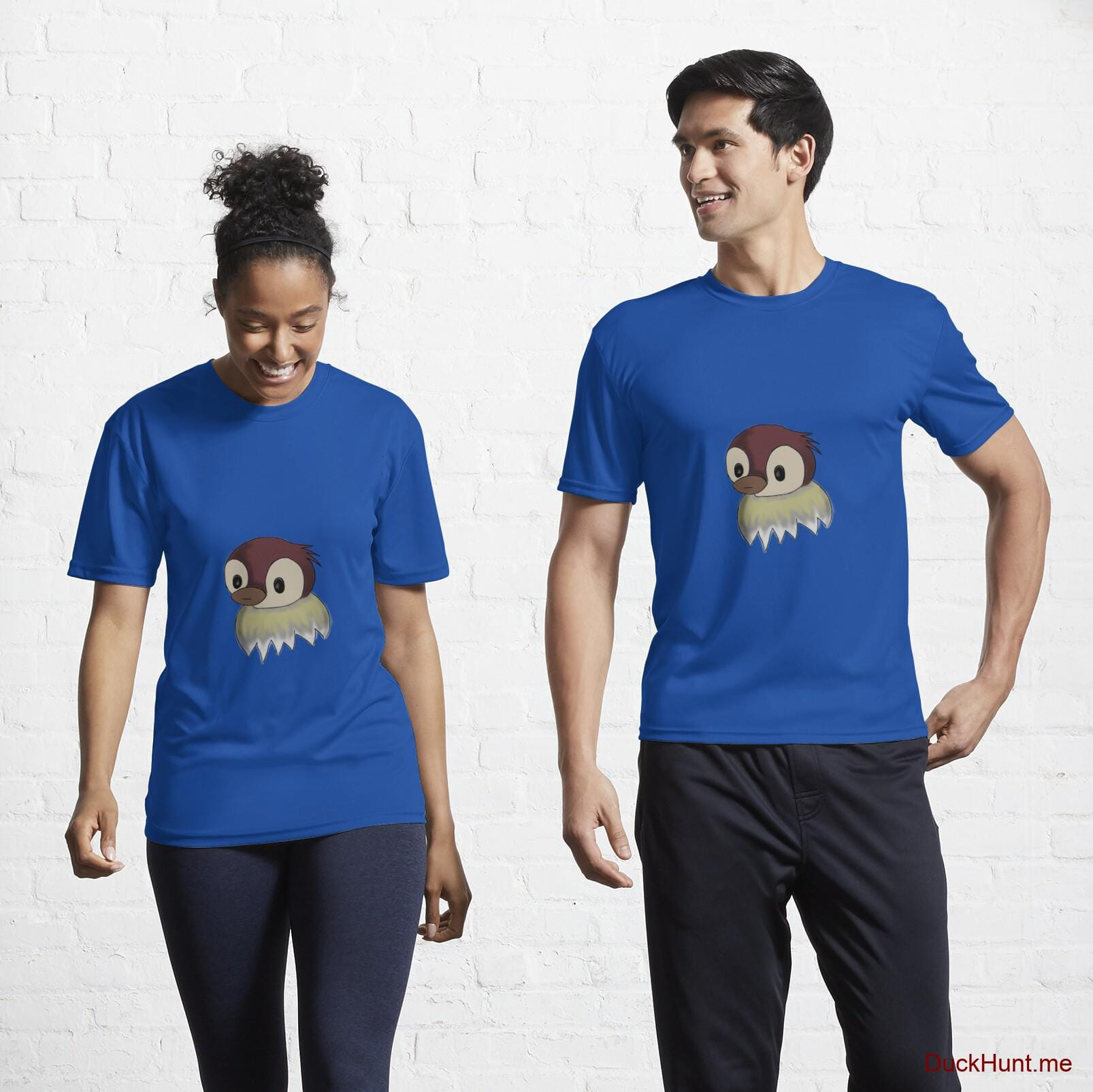 Ghost Duck (fogless) Royal Blue Active T-Shirt (Front printed)
