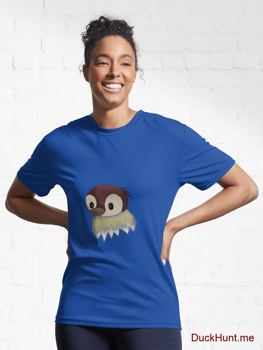 Ghost Duck (fogless) Royal Blue Active T-Shirt (Front printed) alternative image 5