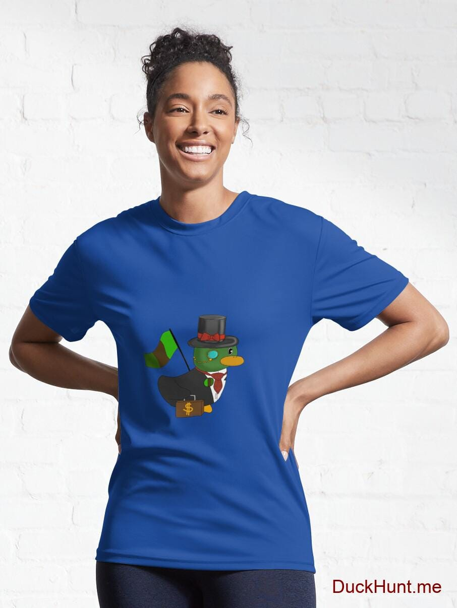 Golden Duck Royal Blue Active T-Shirt (Front printed) alternative image 5