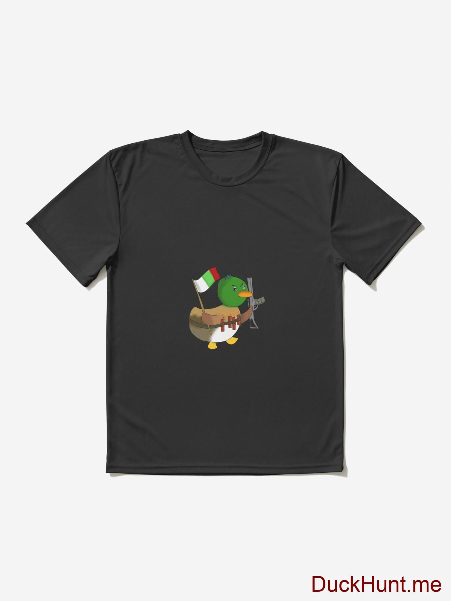 Kamikaze Duck Black Active T-Shirt (Front printed) alternative image 2