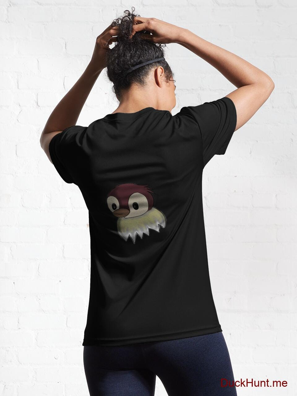 Ghost Duck (fogless) Black Active T-Shirt (Back printed) alternative image 5
