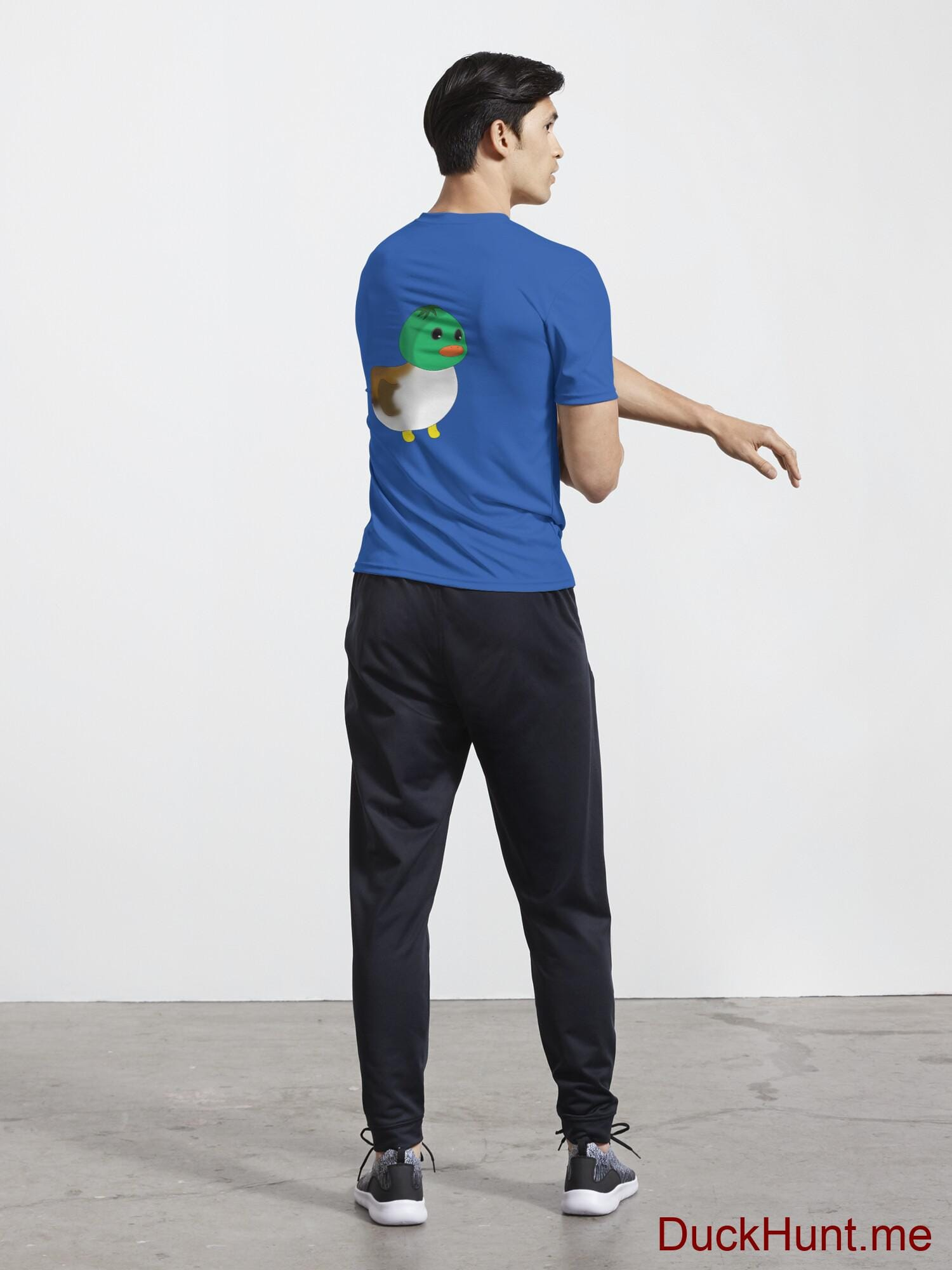 Normal Duck Royal Blue Active T-Shirt (Back printed) alternative image 4
