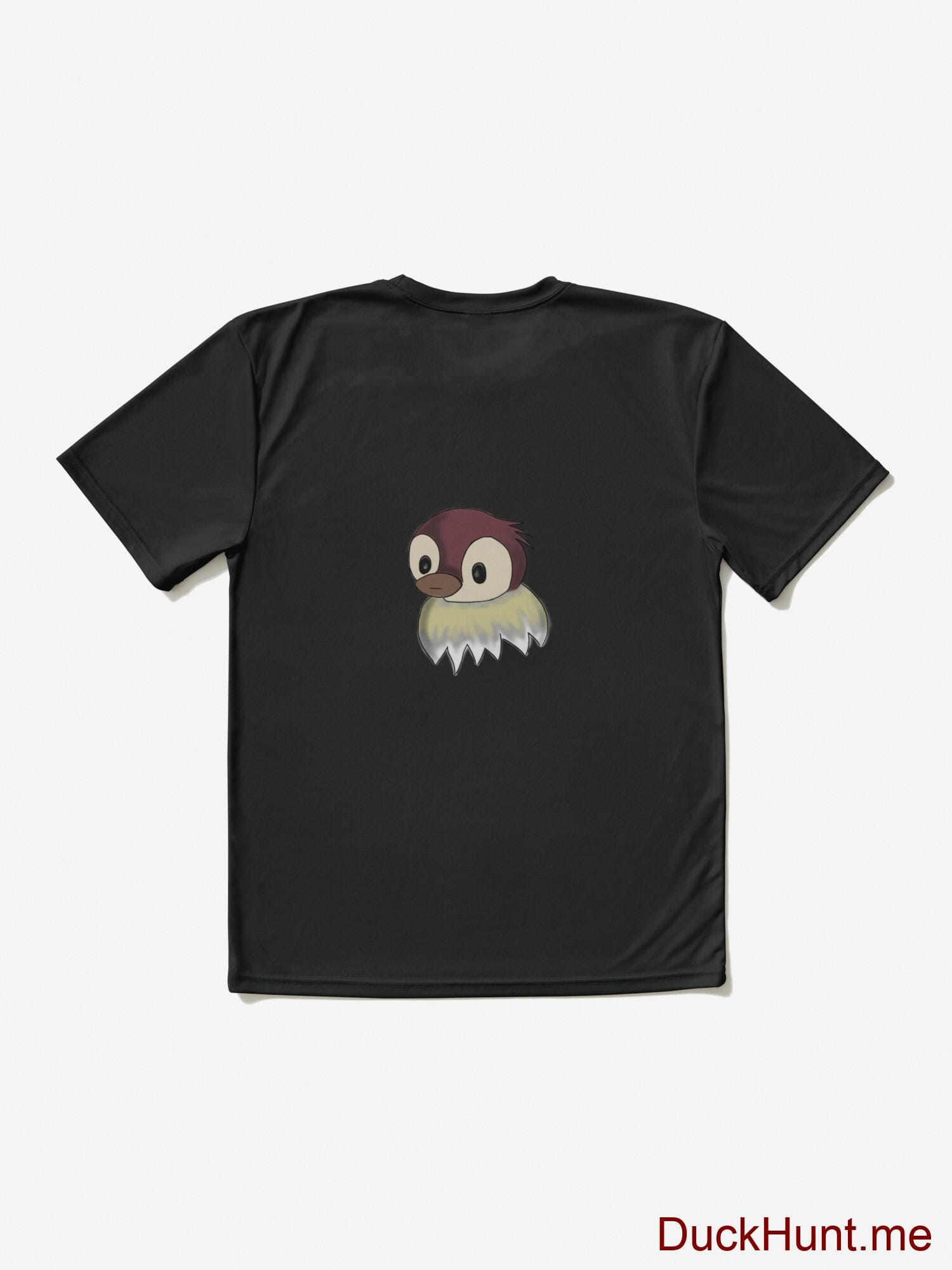 Ghost Duck (fogless) Black Active T-Shirt (Back printed) alternative image 1