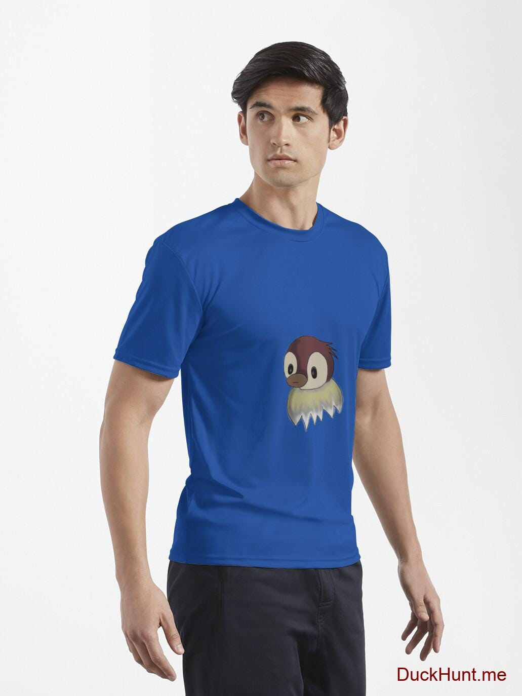 Ghost Duck (fogless) Royal Blue Active T-Shirt (Front printed) alternative image 6