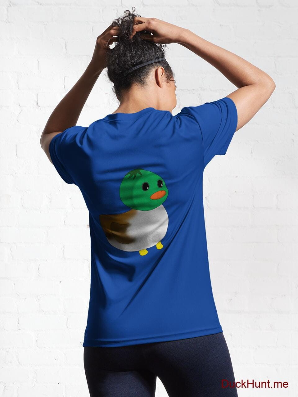 Normal Duck Royal Blue Active T-Shirt (Back printed) alternative image 5