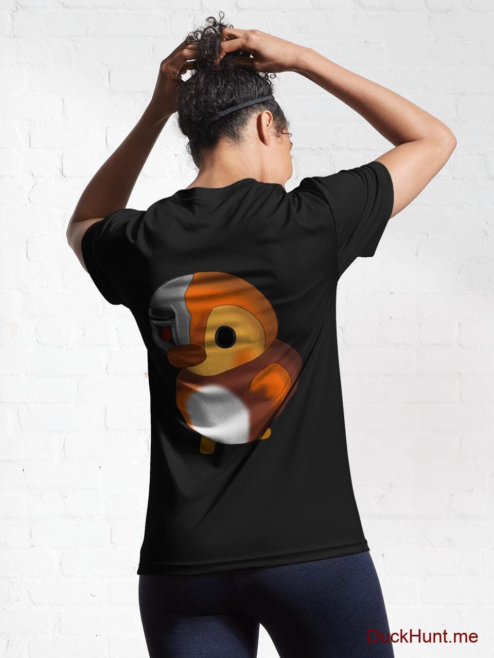 Mechanical Duck Black Active T-Shirt (Back printed) alternative image 5