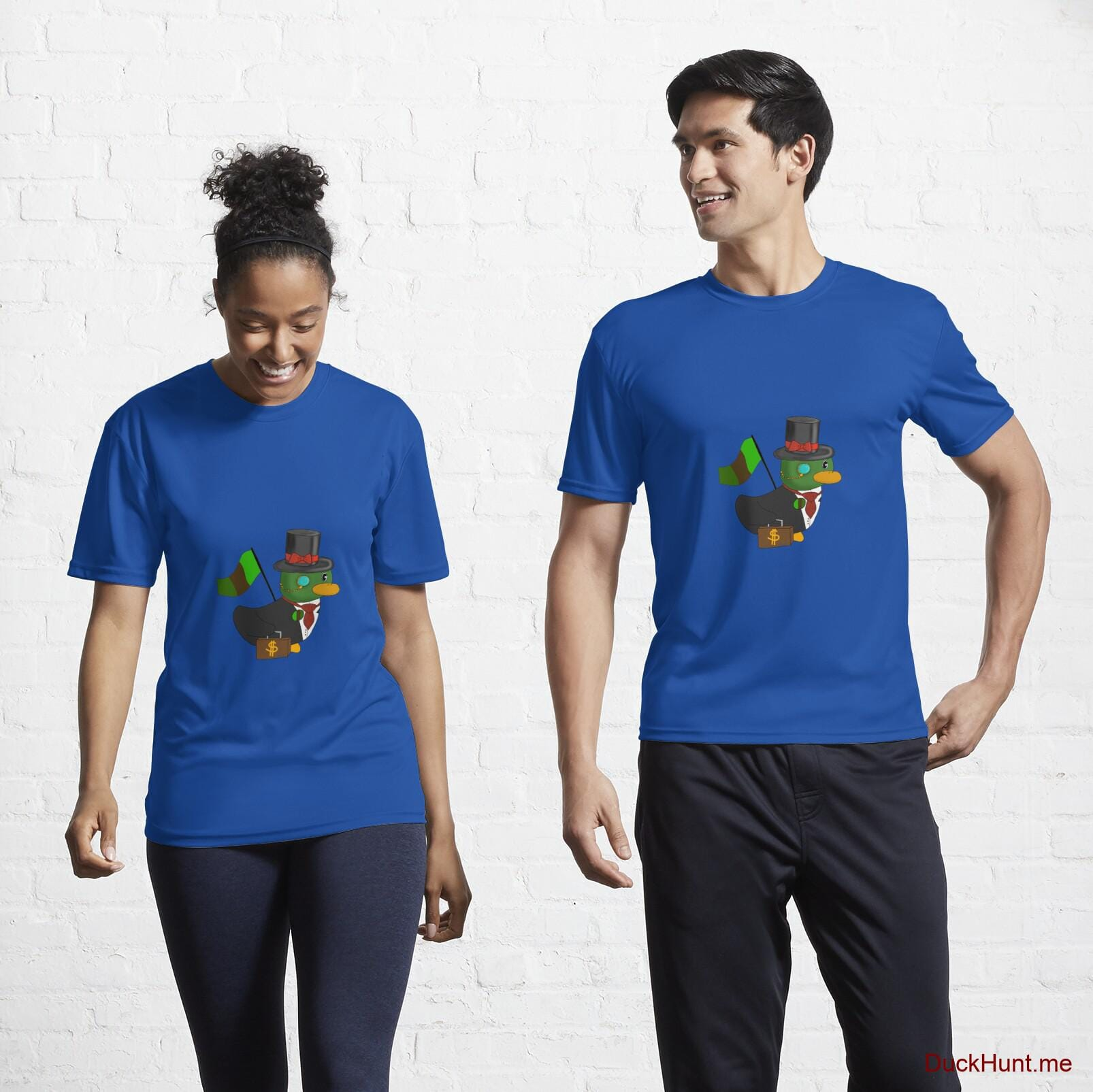 Golden Duck Royal Blue Active T-Shirt (Front printed)