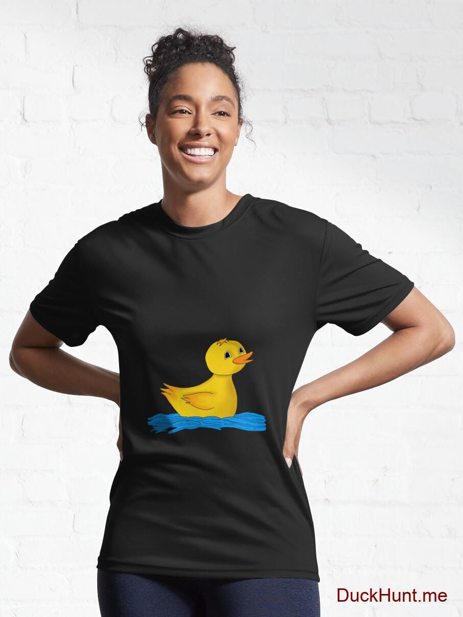 Plastic Duck Black Active T-Shirt (Front printed) alternative image 5