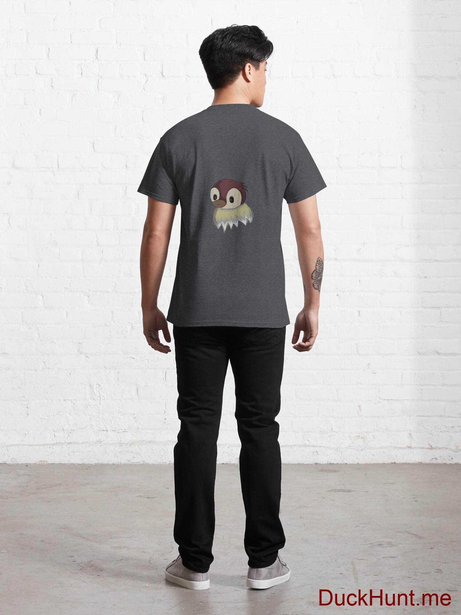 Ghost Duck (fogless) Denim Heather Classic T-Shirt (Back printed) alternative image 3