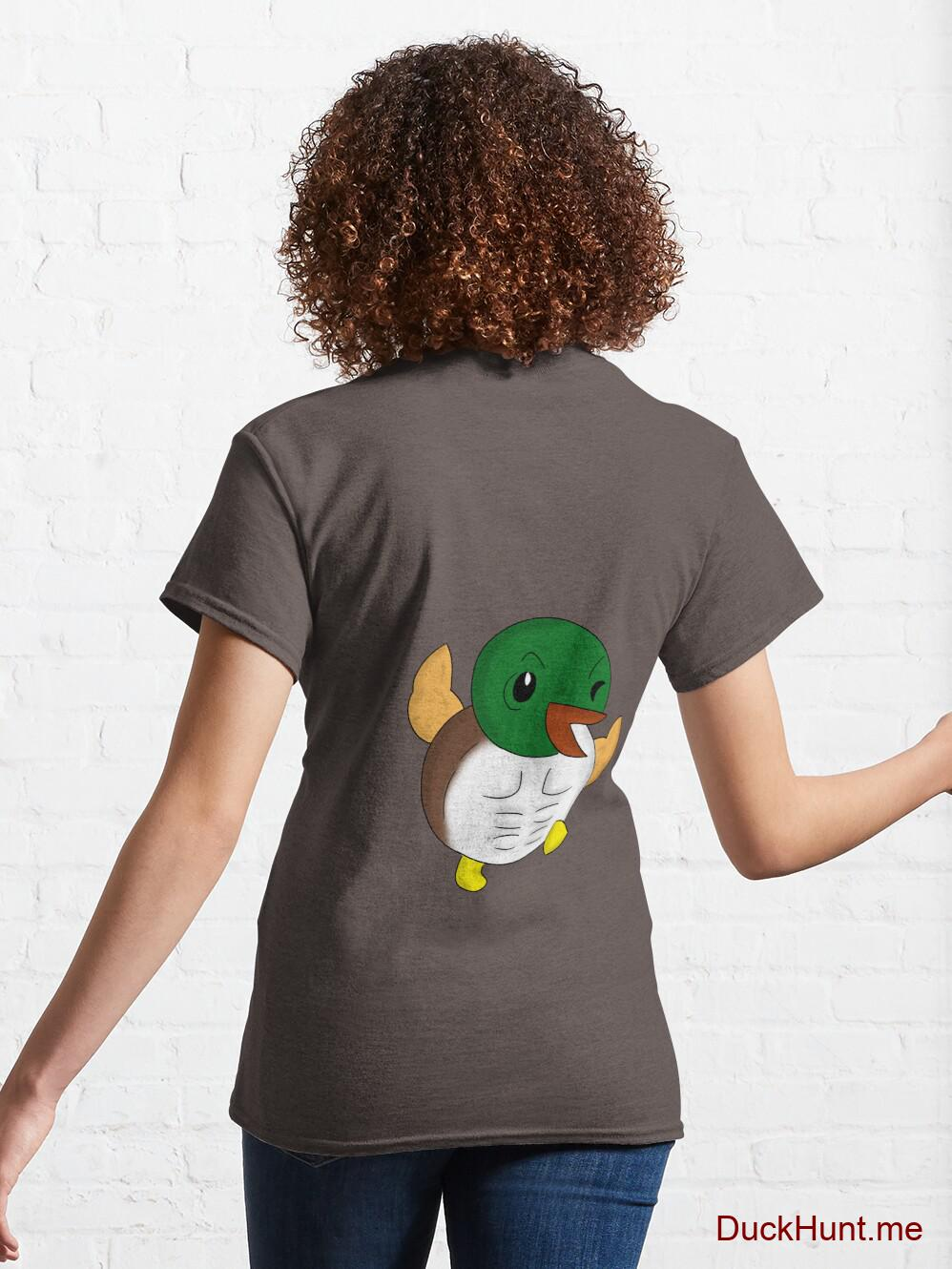 Super duck Dark Grey Classic T-Shirt (Back printed) alternative image 4