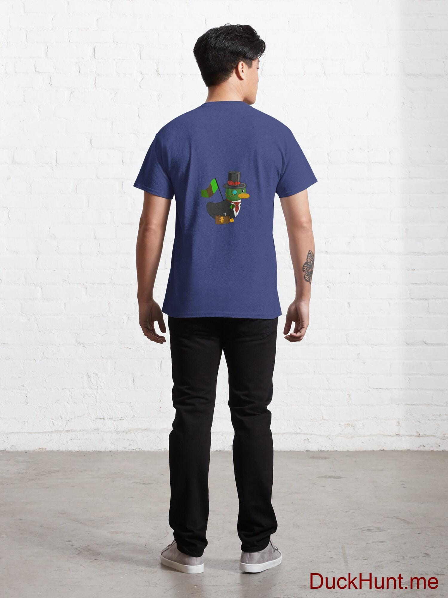 Golden Duck Blue Classic T-Shirt (Back printed) alternative image 3