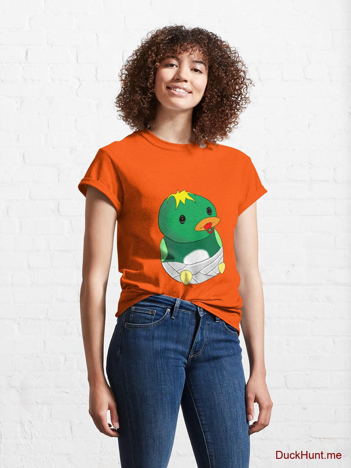 Baby duck Orange Classic T-Shirt (Front printed) alternative image 3