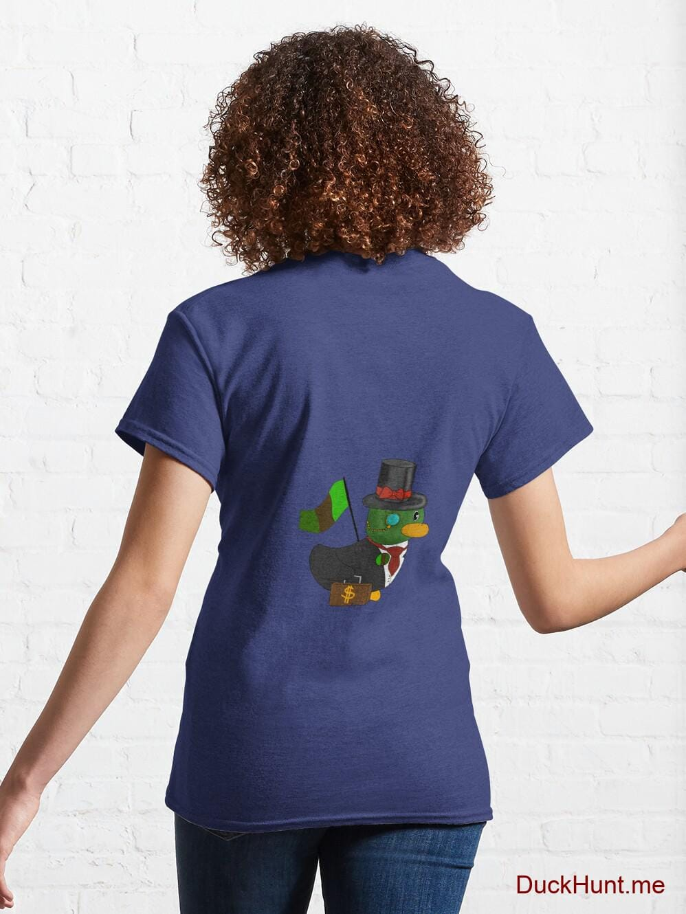 Golden Duck Blue Classic T-Shirt (Back printed) alternative image 4