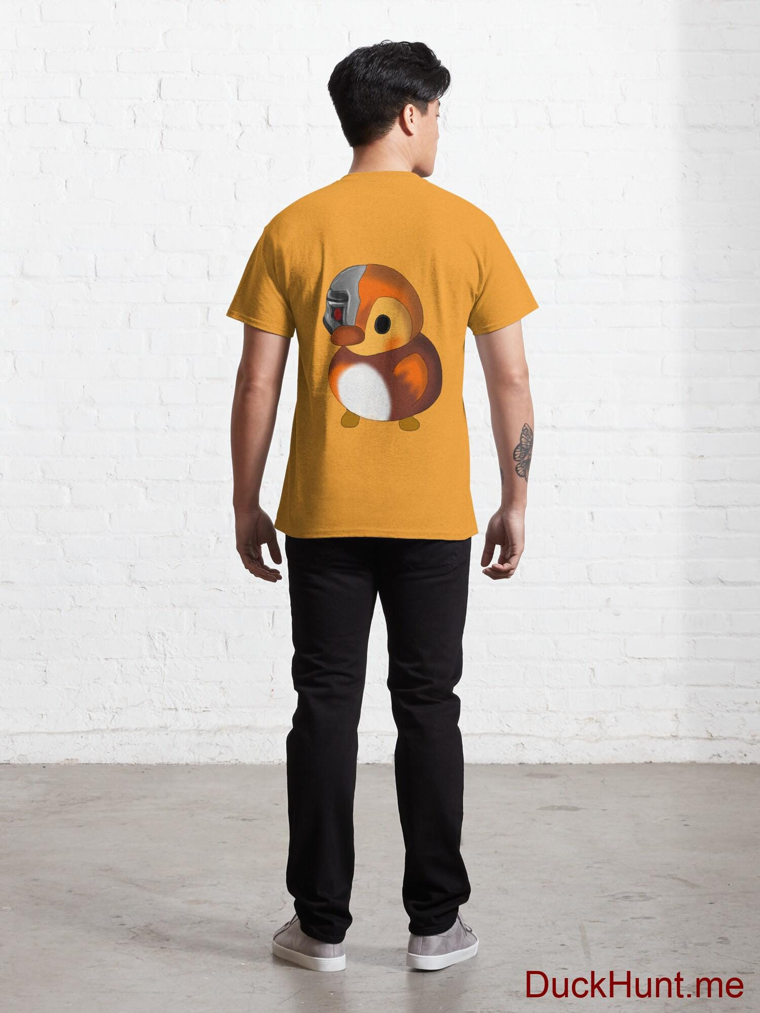 Mechanical Duck Gold Classic T-Shirt (Back printed) alternative image 3