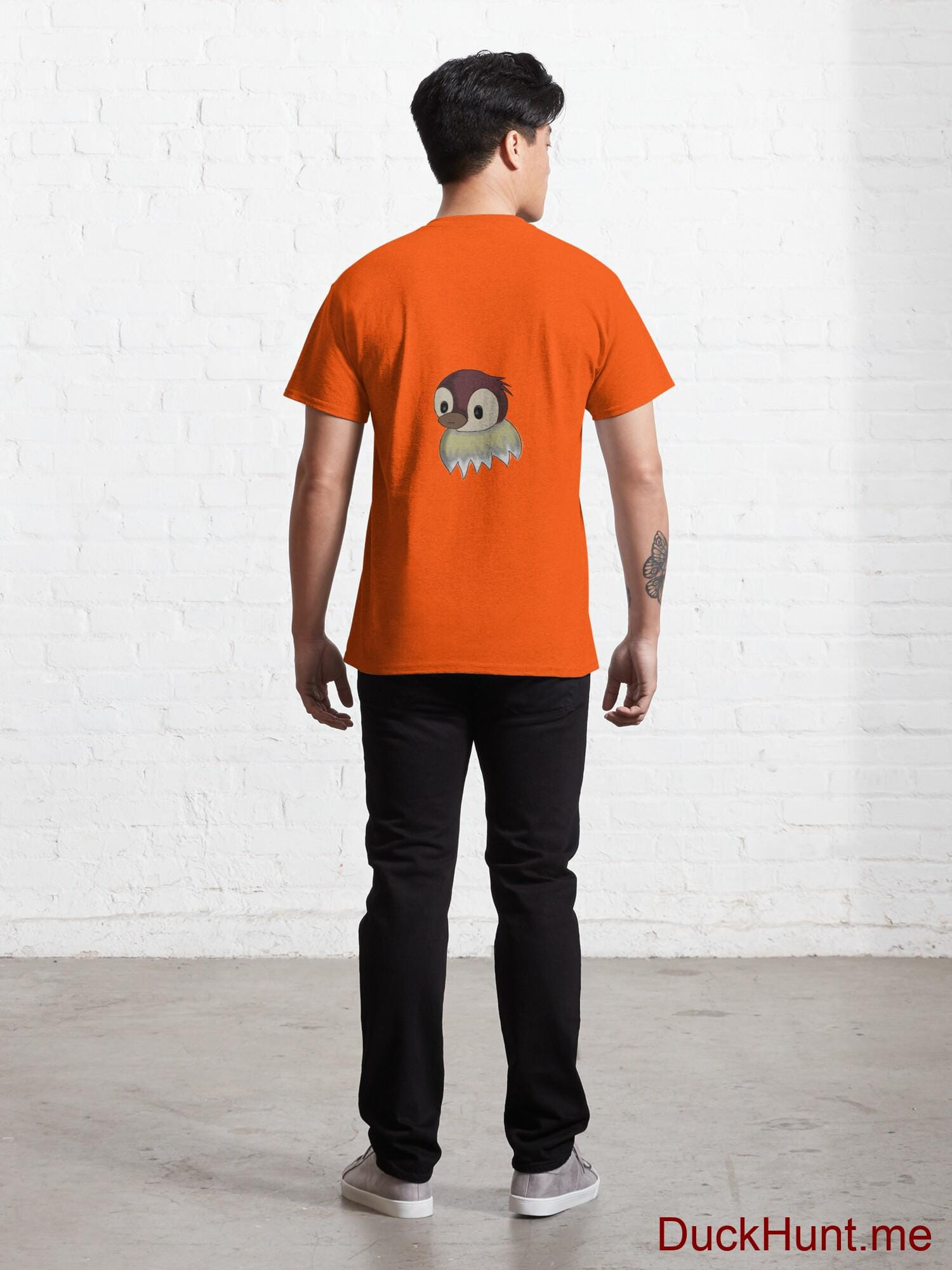 Ghost Duck (fogless) Orange Classic T-Shirt (Back printed) alternative image 3