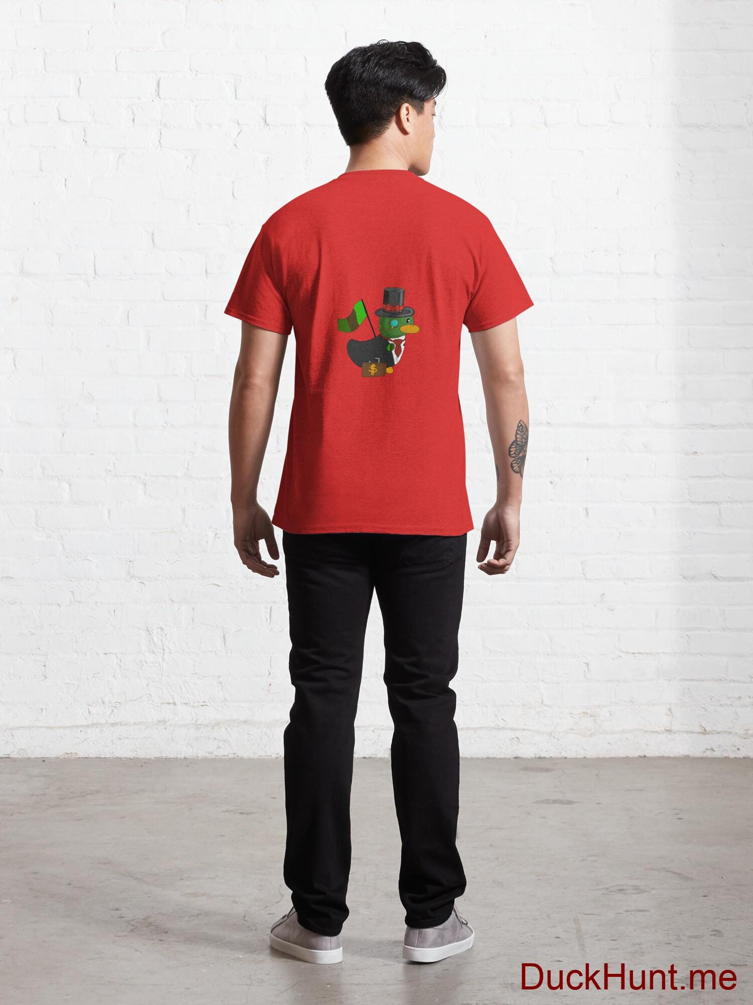 Golden Duck Red Classic T-Shirt (Back printed) alternative image 3