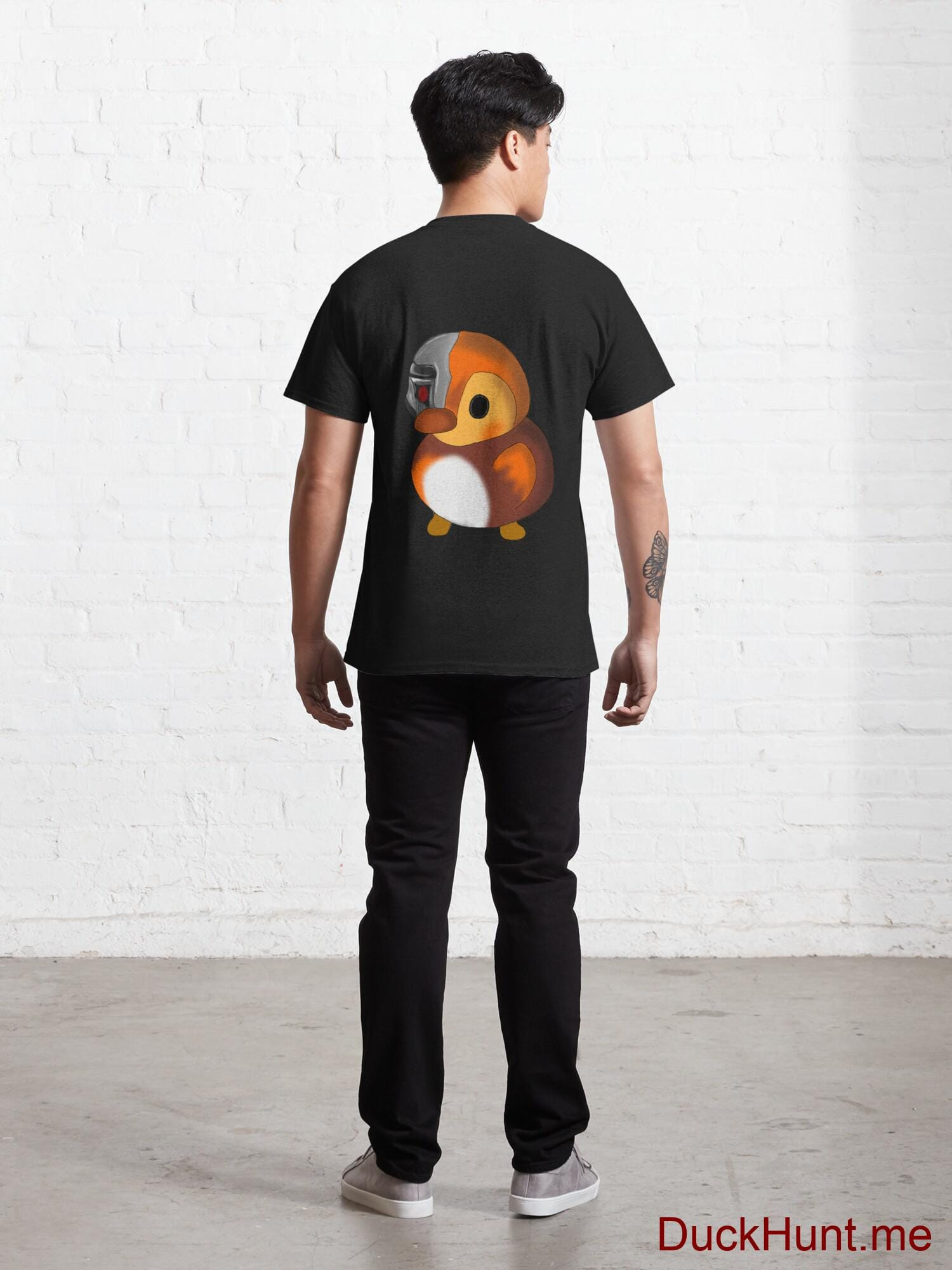 Mechanical Duck Black Classic T-Shirt (Back printed) alternative image 3