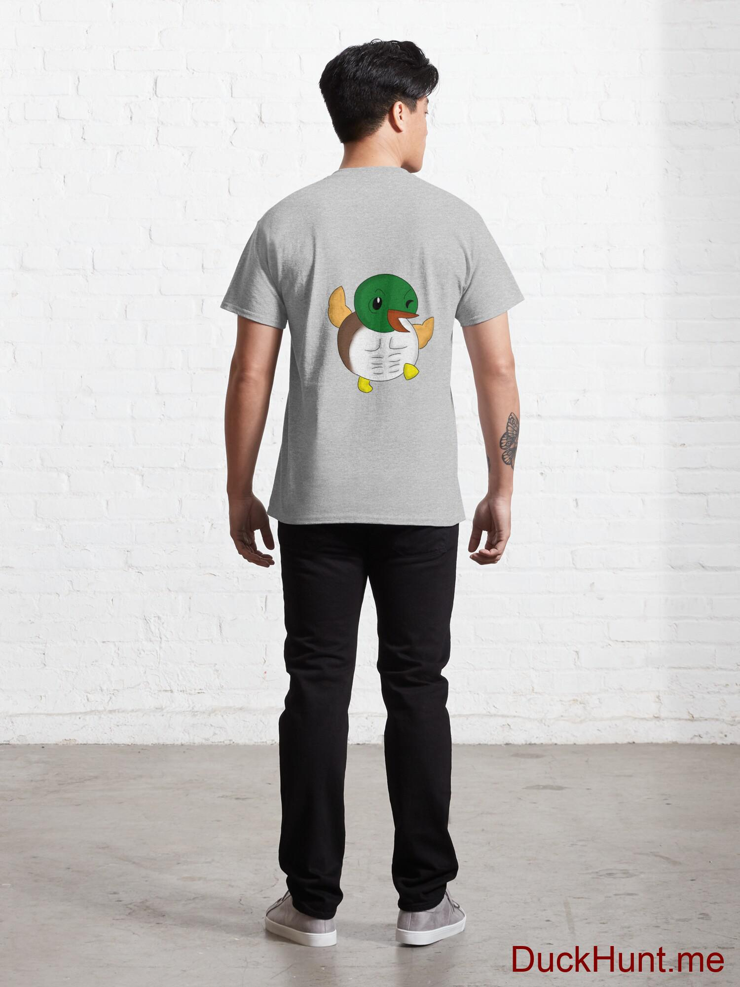 Super duck Heather Grey Classic T-Shirt (Back printed) alternative image 3