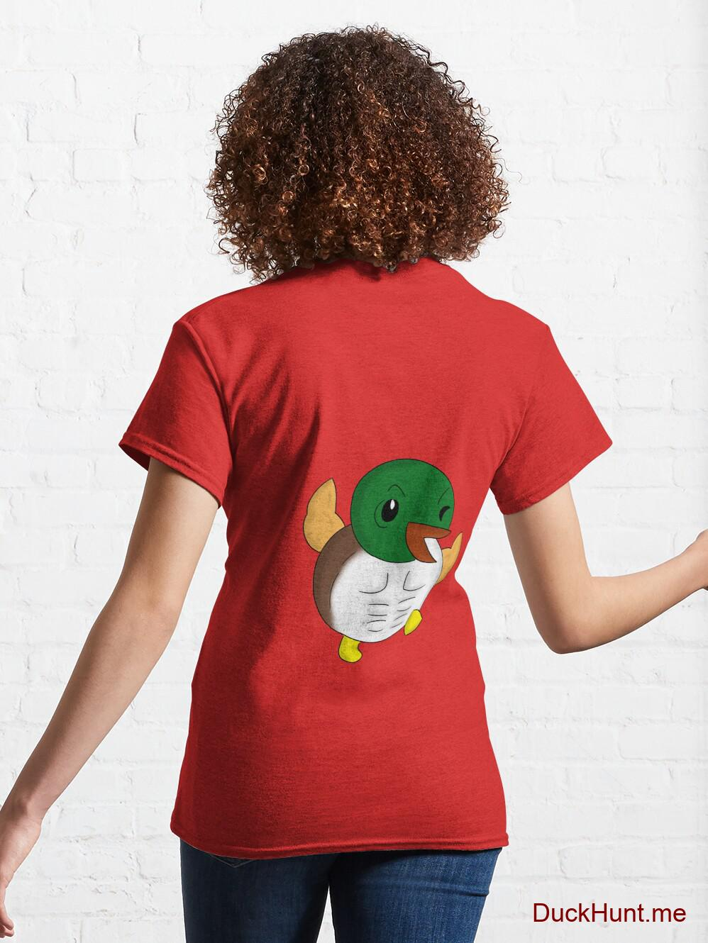 Super duck Red Classic T-Shirt (Back printed) alternative image 4