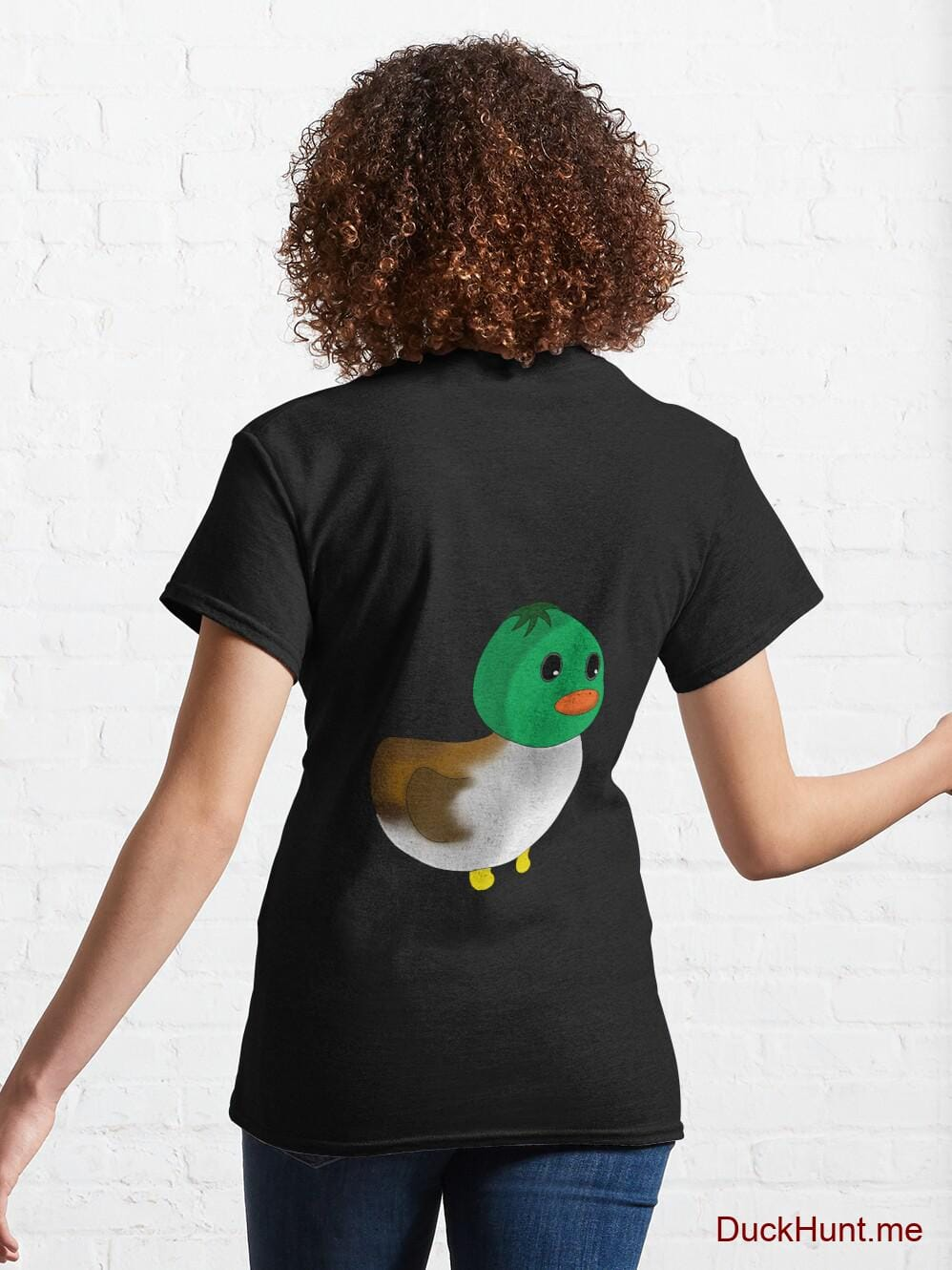 Normal Duck Black Classic T-Shirt (Back printed) alternative image 4