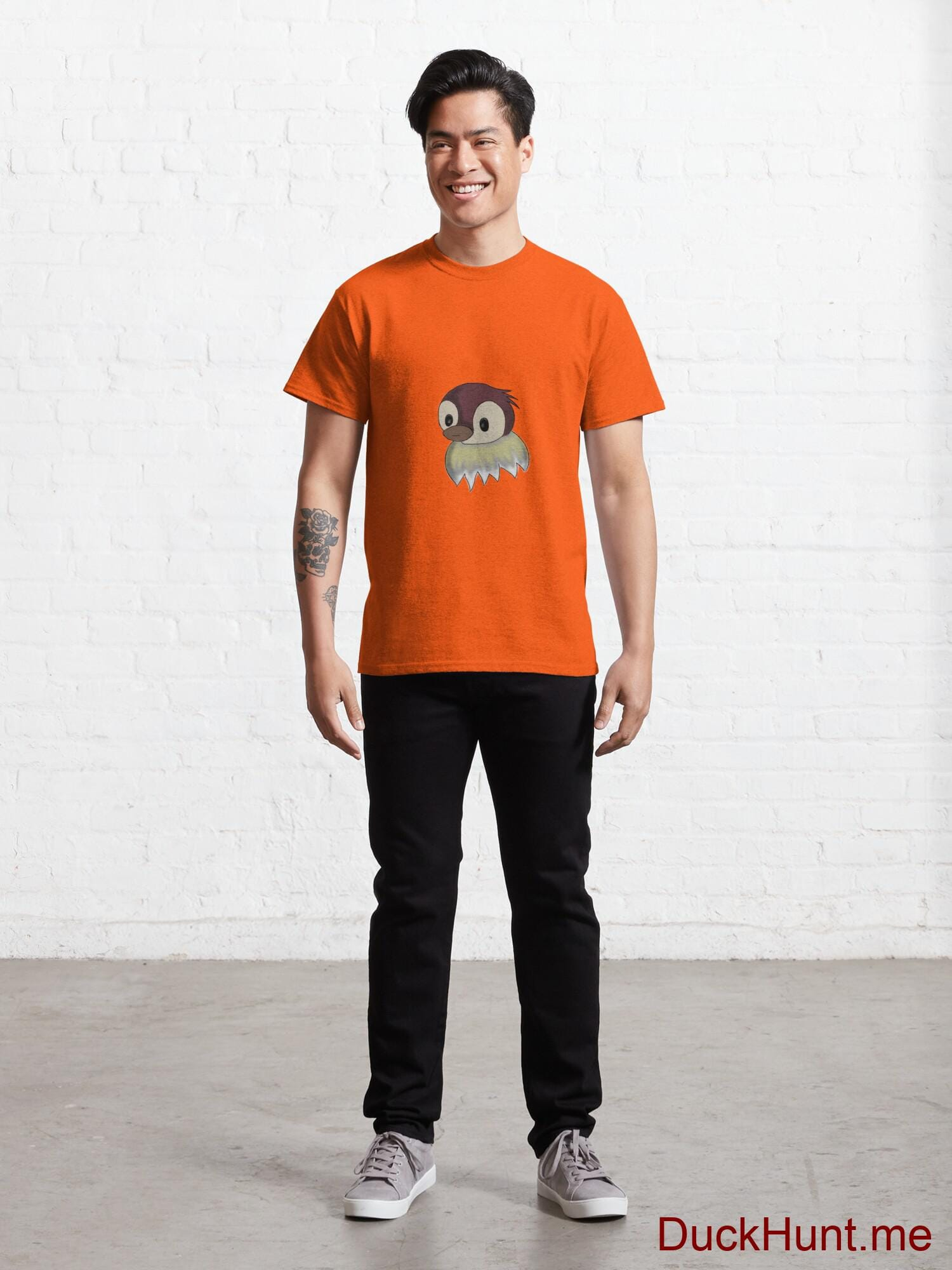 Ghost Duck (fogless) Orange Classic T-Shirt (Front printed) alternative image 6