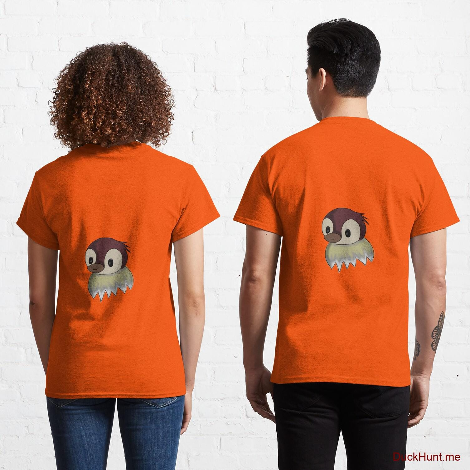 Ghost Duck (fogless) Orange Classic T-Shirt (Back printed)