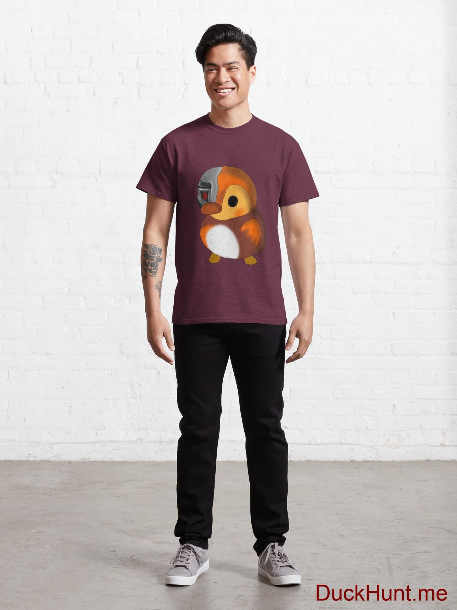 Mechanical Duck Dark Red Classic T-Shirt (Front printed) alternative image 6