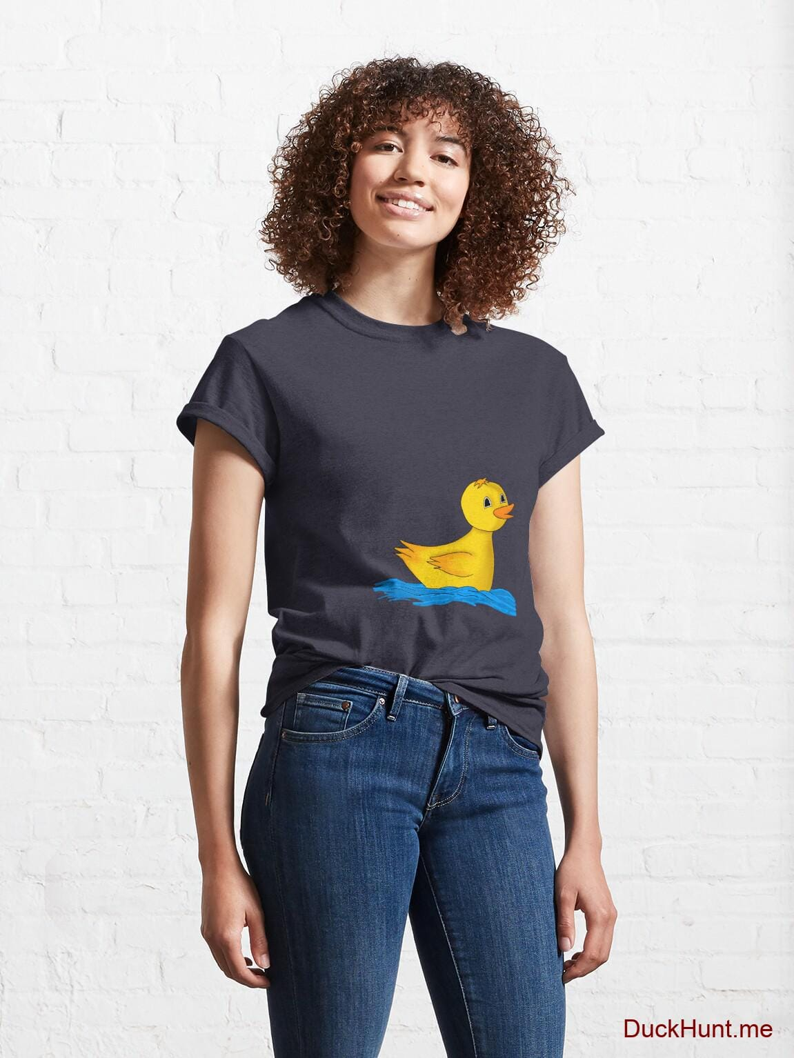 Plastic Duck Navy Classic T-Shirt (Front printed) alternative image 3
