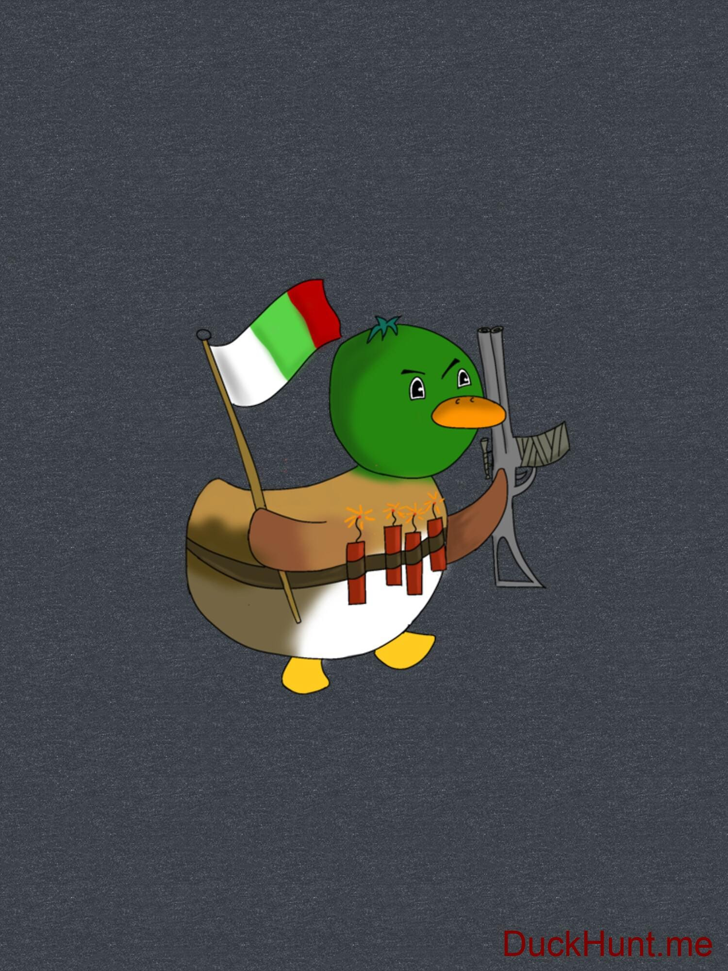 Kamikaze Duck Denim Heather Classic T-Shirt (Front printed) alternative image 1