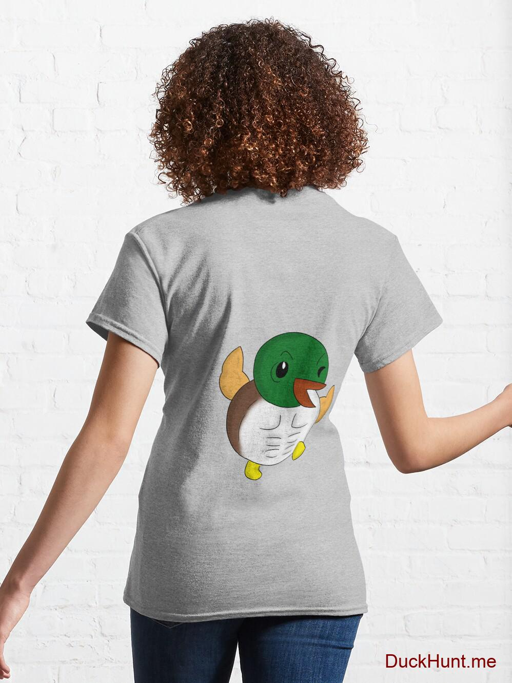 Super duck Heather Grey Classic T-Shirt (Back printed) alternative image 4