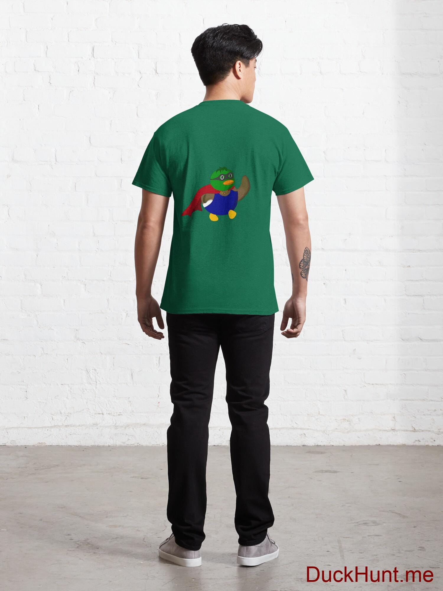 Alive Boss Duck Green Classic T-Shirt (Back printed) alternative image 3