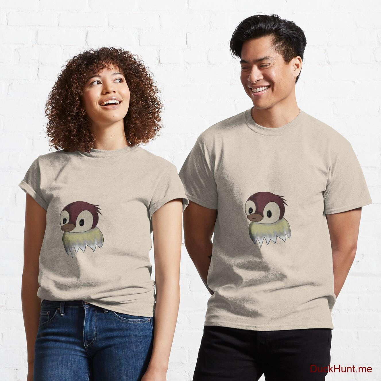 Ghost Duck (fogless) Creme Classic T-Shirt (Front printed)