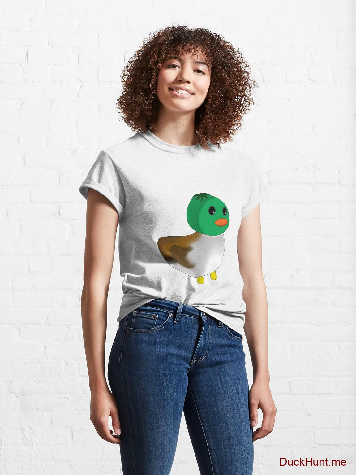 Normal Duck White Classic T-Shirt (Front printed) alternative image 3