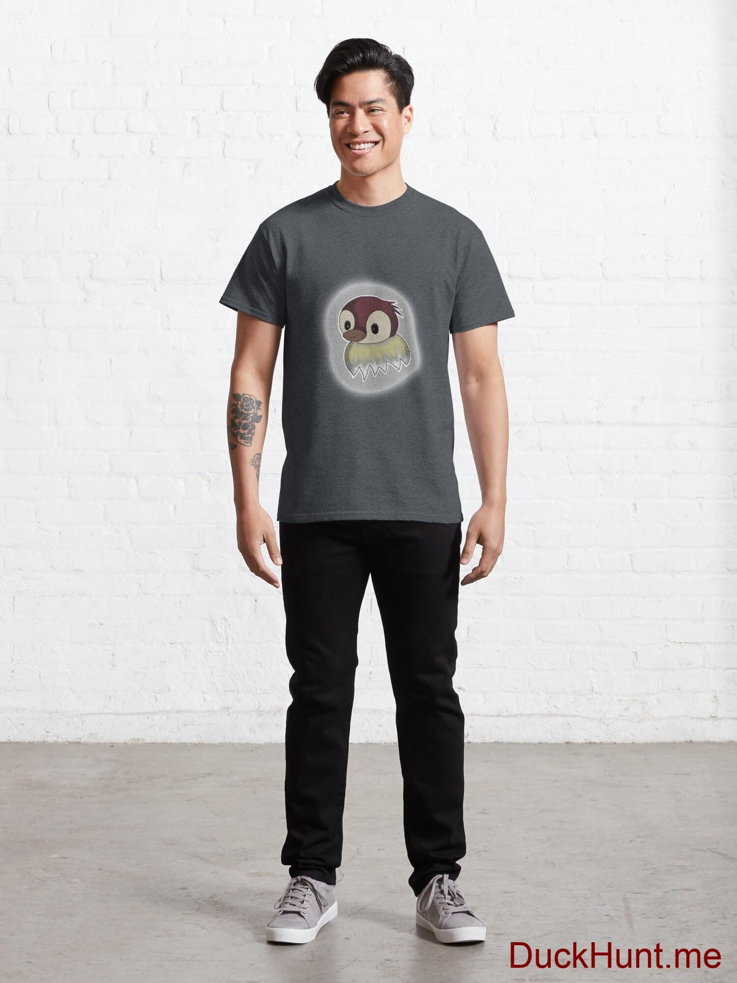 Ghost Duck (foggy) Denim Heather Classic T-Shirt (Front printed) alternative image 6